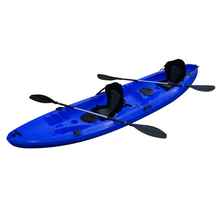 PRESALE Find Kayak Explorer Double Touring Kayak Blue with-2 Seats & 2 Paddles 4 Inbuilt Rod Holders