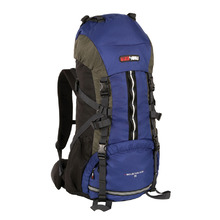 BlackWolf Mountain Ash 55 Trek Hiking Travel Pack - Blue Titanium