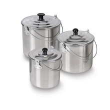 Elemental 3 Piece Aluminium Billy Can Set