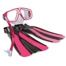 Land & Sea Platypus Snorkel,Mask and Fin Set child Pink