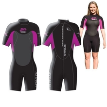 Adrenalin Radical-X Spring Super Stretch Lady Wetsuit - Pink/Blue