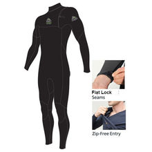 Adrenalin Fuzion Zip Free Steamer Adult Wetsuit - Black