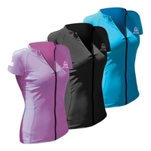 Adrenalin Ladies Front Zip Cap Sleeve Rash Vest