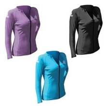 Adrenalin Lycra Front Zip Long Sleeve Ladies Rash Vest