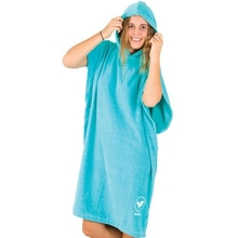 Ocean & Earth Ladies Hooded Poncho Aqua