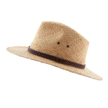 Ocean & Earth Mens Bowlo Cane Hat Natural