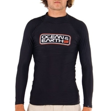 Ocean & Earth Boys Script Long Sleeve Rash Vest Black