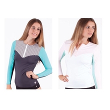 Ocean & Earth Girls Riot Zip Long Sleeve Rash Vest