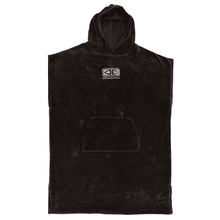 Ocean & Earth Black Mens Corp Hooded Poncho