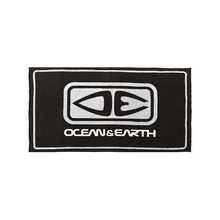 Ocean & Earth Black Priority Beach Towel