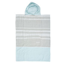 Ocean & Earth Ladies Lt Grey Siesta Hooded Poncho