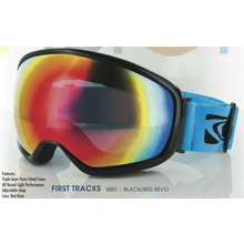 Carve First Tracks Matt Black with Red Revo Ski & Snowboard Goggles