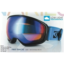 Carve First Tracks Matt Black with Blue Revo Ski & Snowboard Goggles