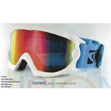 Carve Eskimo Matt White With Red Revo Ski & Snowboard Goggles