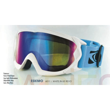 Carve Eskimo Matt White With Blue Revo Ski & Snowboard Goggles