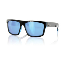 Carve Volley Black W/Blue Revo Polarized Sunglasses