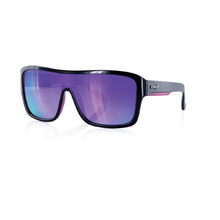 Carve Anchor Beard Black W/Purple Revo Sunglasses