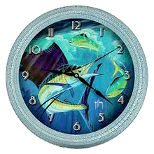 "Rivers Edge 15"" Guy Harvey Sailfish Clock"