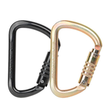 AXIS 53kN S/F Wide D Tri-Lock Steel Carabiner
