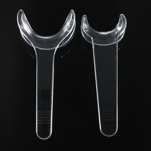 2 Pcs Dental Retractor T Type Plastic Teeth Cheek Open Mouth Treatment Clinic