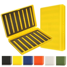 Plastic Slim Fly Fishing Box Fishing Tackle Box Slit Foam Insert