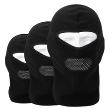 Fleece Balaclava Neck CS Hat Hood Outdoor Sports Ski Bicycle Full Face Mask Hat Cap