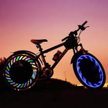 7LED Full Color Bicycle Silica gel Spoke Light MTB Steel Wire Lamp