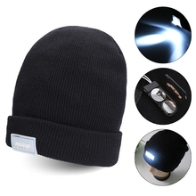 5 LED Bright Lighted Cap Winter Warm Beanie Angling Cycling Hunting Camping Knitted Hat