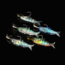 Proberos 5Pcs 12cm Fishing Lure Soft Lure Monochrome No Hook Bait