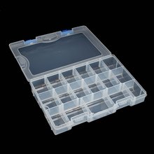 17 Compartment Removable Fishing Tackle Box Transparent Plastic Fishing Box 27.5*18.5*4.5cm