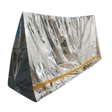 Emergency Aluminized Sleeping Bag Insulation Camping Outdoor Survival 100*200cm