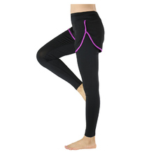 ARSUXEO Women Yoga Running Pants Two-Piece Compression Tights Elastic Exercise Trousers