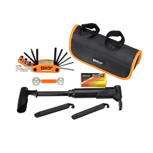 Bicycle Tire Repair Tools Kit Bike Repair Set 13 in 1 Folding Tool With Inflator Patches Toolkit