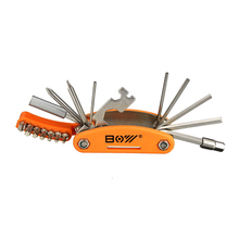 19 In 1 Bicycle Repair Tool Hexagon Screwdriver Wrench Set With Open-ended Spanner Spoke Wrench