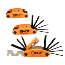 15 In 1 Mountain Bike Repair Tools Sets Screwdrivers With Multi Wrench Sockets Square Rod