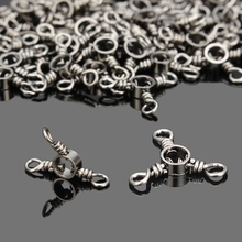 Maxcatch 50pcs Triple Swivel Connector 3 Way Fishing Swivels Fishing Tackle
