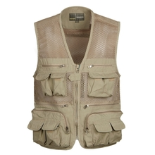 Multi Pockets Fishing Mesh Vest Hunting Vest Photographing Vest Fishing Clothes