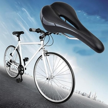 Hollow MTB Road Bike Bicycle Saddle Sports Soft Pad Saddle Seat Black