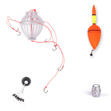 ZANLURE Silver Carp Bighead Carp Float Fishing Set Barbed Six Strong Explosion Hooks Fishing Tackle