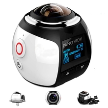 360¶ôÇ÷ Mini WiFi Panoramic Video Camera 2448P 30fps 16MP Photo 3D Sports DV VR Video And Image ABS