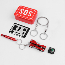SOS Emergency Equipment Tool Kit First-aid Box Fishing Supplies Outdoor Survival Gear