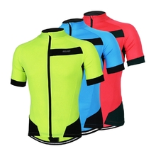 ARSUXEO Outdoor Sports Cycling Jersey Spring Summer Bike Bicycle Short Sleeves MTB Clothing Shirts