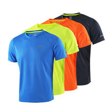 ARSUXEO Men Summer Running T Shirts Active Short Sleeves Quick Dry Training Jersey Sports Clothing