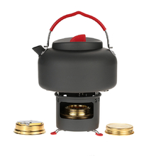 Alocs Outdoor Cooking Stove Burner Set With Water Kettle Teapot Support Bracket Camping Picnic Cookware