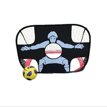 2 in 1 Children Training Soccer Goal Portable Folding Football Door Kid Ball Game