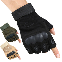 Outdoor Tactical Half Finger Gloves Fitness Gloves Microfiber For Riding Camping Hiking