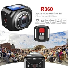 360¶ôÇ÷ Panoramic Mini Sports Action Camera Outdoor HD Video Camera With Remote Control WIFI Wireless DV Logger 1.5inch Screen