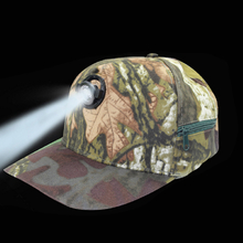 Outdoor Night Fishing Cap With Head Light Camouflage Camping Fishing Hunting Head Lamp Light Hat