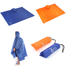 3 In 1 Climbing Hiking Raincoat Poncho Rain Wear Camping Pad Mat Waterproof Groundsheet Sunshade