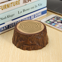 Outdoor Protable Mini Tree Speaker Hands-free Bluetooth Wooden Stump Music Subwoofer Speaker